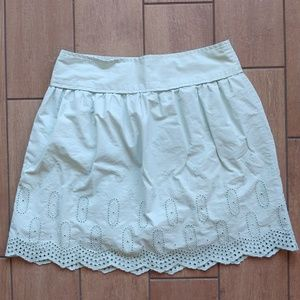 Loft Mint Green Eyelet Skirt Size 10
